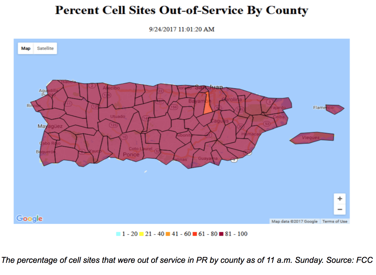 Puerto Rico Power Outage Map Widespread Power Outages in Puerto Rico, VI Continue to Hamper